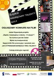 Plakat konkursu Śląskie. Nakręcamy talenty