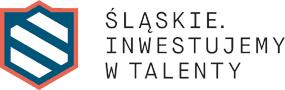 Logotyp: Śląskie. Inwestujemy w talenty