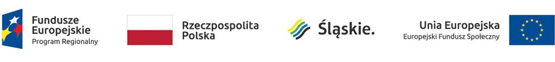 Logotypy Fundusze Europejskie Rzeczpospolita Polska Województwo Śląskie Unia Europejska